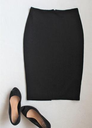 Черная юбка-карандаш от h&m, размер s