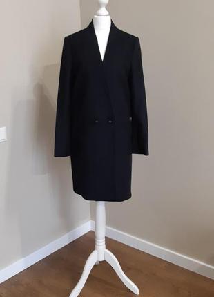 Пальто бойфренд прямой крой шерсть mango