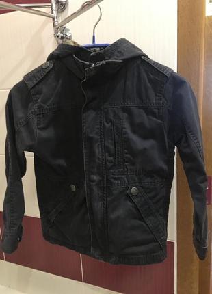 Легенька куртка парка hema на ріст 122- 128 темно сірого кольору