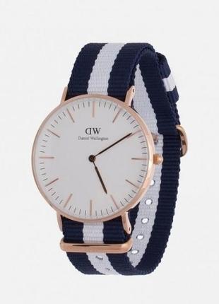 Часы бело-синие