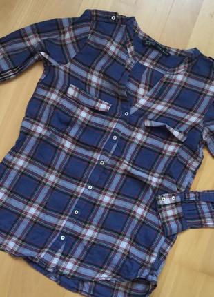 Рубашка zara basic размер xs s