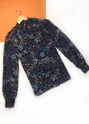 Блуза на резиночках блузка шифоновая