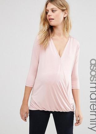 Блуза для беременных с запахом asos maternity