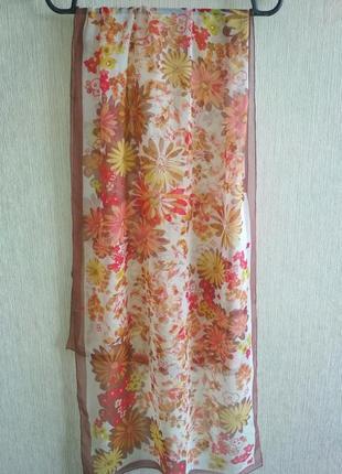 Basile итальянский шарф из натурального шелка,шов роуль