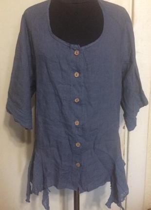 Льняная блуза , италия