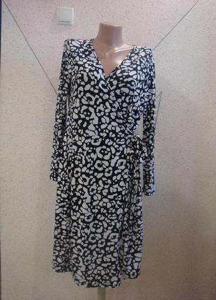 Красивое платье на запах с пояском. размер 10-122