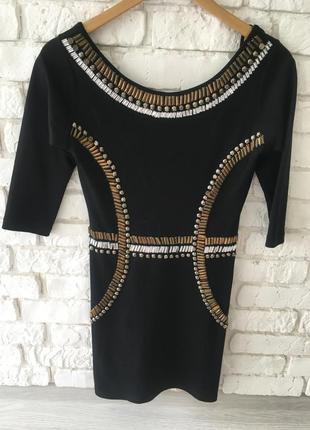 Вечерние коктельное чёрное платье