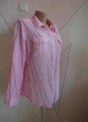 Натуральная нежная классическая рубашка. размер18-20