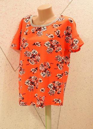 Яркая красивая блуза -футболка .размер 16-20