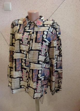 Красивая рубашка в орнамент. размер 16-20