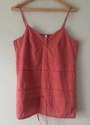 Блуза на бретелях,100%хлопок/размер xl-xxl