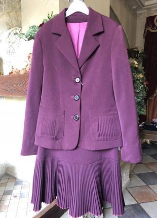 Пиджак школьный бордо для девочки 7-10 лет