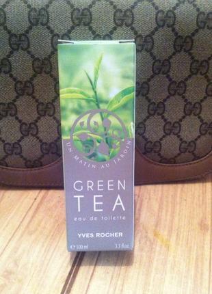 Шикарная туалетная вода зеленый чай, green tea vert ot yves rocher