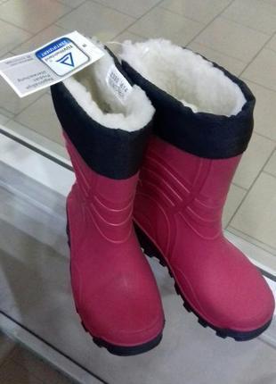 Теплі резинові чобітки 23 германія - якість!
