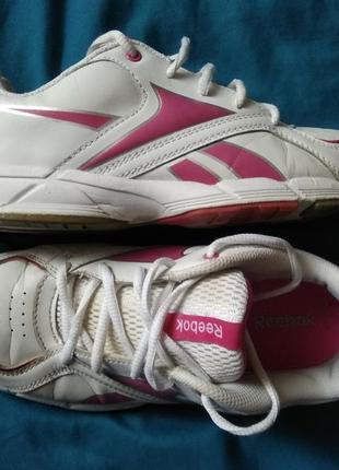 Фирменные кожаные кроссовки reebok, оригинал!