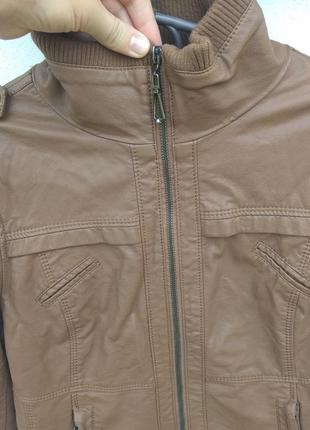 Коричневая куртка o&s кожзам3