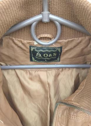 Коричневая куртка o&s кожзам5