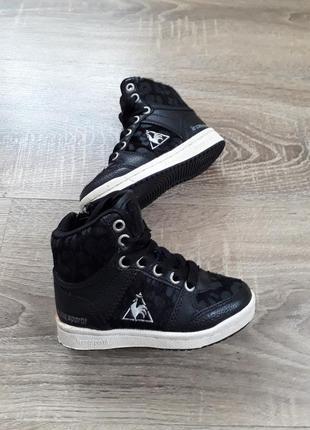 Крутые высокие кроссовки ботинки из кожи пони р.23