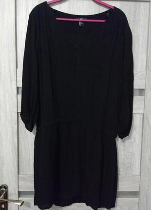 Короткое черное платье h&m