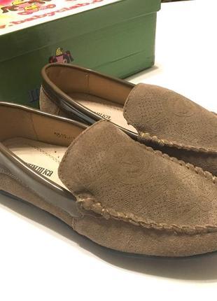 Замшевые туфли мокасины шалунишка!