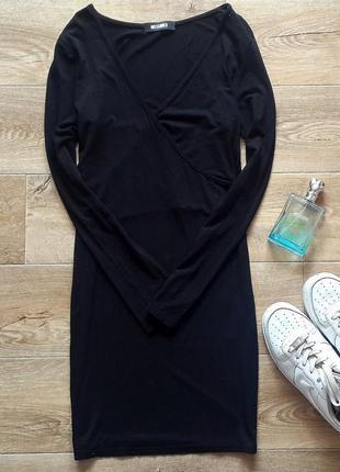 Распродажа! короткое черное платье missguided, базовое черное платье missguided