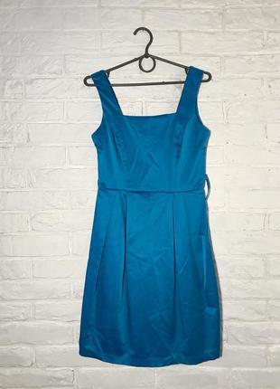Голубое нарядное платье / сарафан на любое мероприятие xs