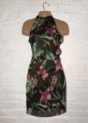 Платье/сарафан можно на пляж в цветы ручная работа от украинского дизайнера m/l