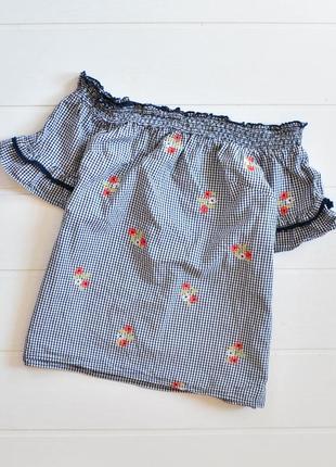 Блуза со спущенными плечами  f&f
