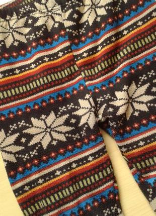 Лосины в орнамент, на меху, s3 фото