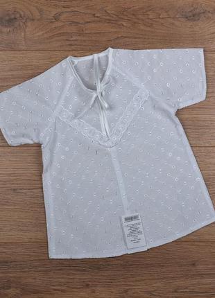 """Крестильное платье-сорочка с вышивкой """"ришелье"""" - р.56-62"""
