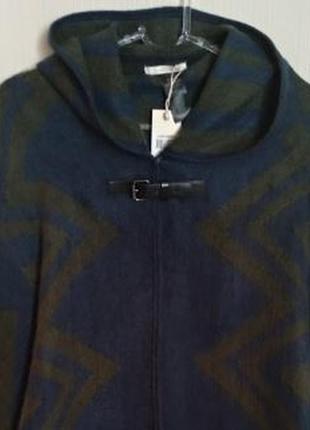 Стильный кейп pieces пончо пальто накидка с капюшоном