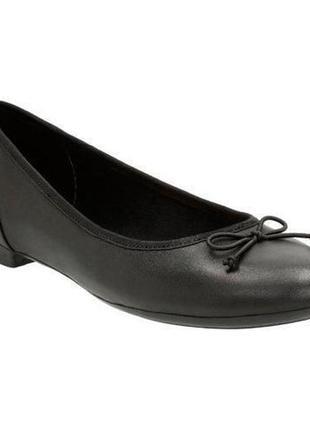 Шкіряні туфлі-балетки