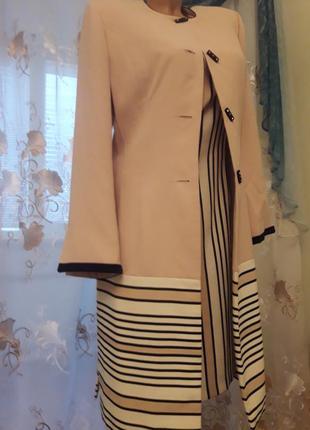 Высокий стиль-кардиган с платьем,  woo, 38-40-