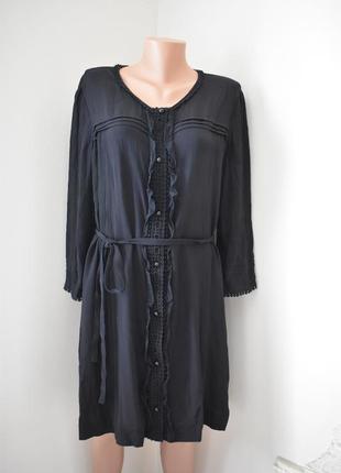 Вискозное красивое платье-рубашка