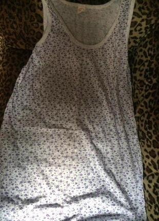 Ночная сорочка без рукава длинная женская (ночнушка) трикотажная хлопковая