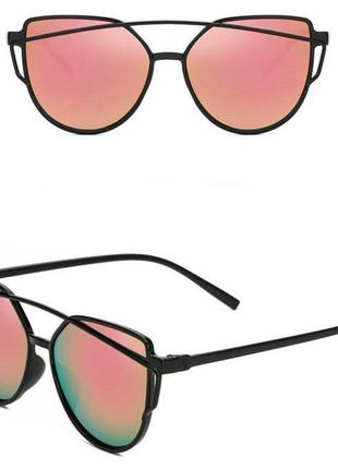 Розовые солнцезащитные очки лето модные