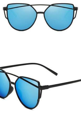 Солнцезащитные очки голубые лето модные