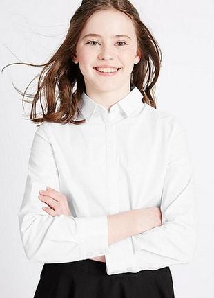 16-96 lcw рубашка для девочки122 128 134 140 146 школьная форма блузка1 фото