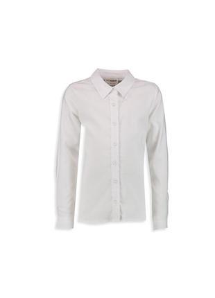 16-96 lcw рубашка для девочки122 128 134 140 146 школьная форма блузка3 фото