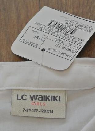 16-96 lcw рубашка для девочки122 128 134 140 146 школьная форма блузка4 фото