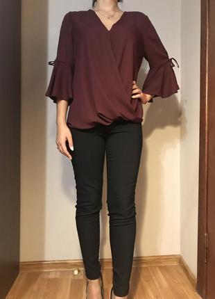 Стильная блуза марсала new look