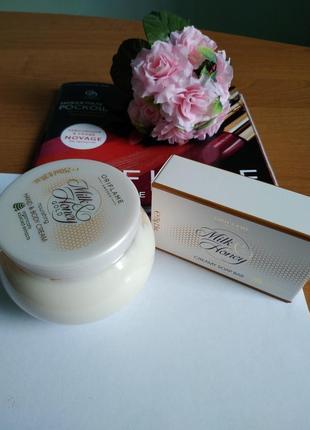 Набор «молоко и мед – золотая серия» питательный крем для рук и тела + крем-мыло