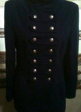 Пальто в стиле милитари шерсть.