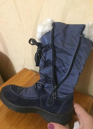 Зимние высокие сапожки на модницу