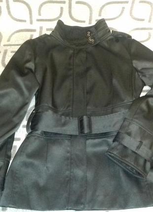 Черный базовый трендовый тренч,френч,куртка