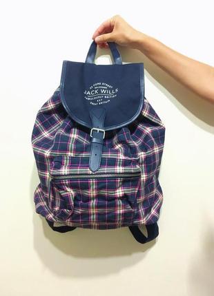 Клетчатый рюкзак