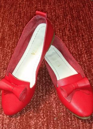 Кокетливые балеточки, удобные как тапочки, стелька 23,5см