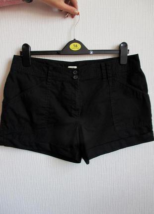 Натуральные короткие котоновые шорты f&f