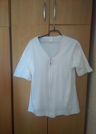 Футболка блуза на замке 56 размера