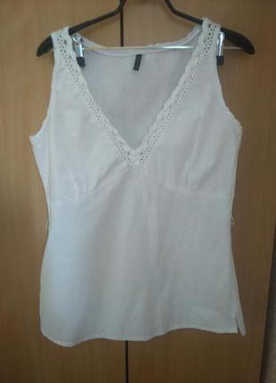 Блуза майка в бельевом стиле 48-50 р
